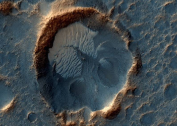 """Real location on Mars associated with """"The Martian."""" Photo courtesy of NASA."""