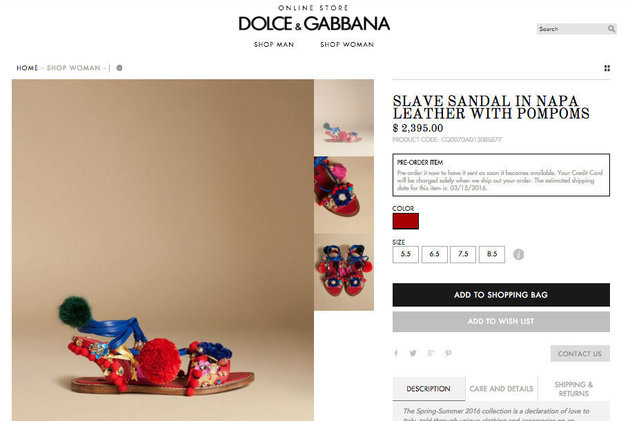 Although Dolce & Gabbana recently renamed this sandal, it caused quite the social media and industry uproar. http://img.huffingtonpost.com/asset/crop_72_25_913_611scalefit_630_noupscale/56d95cc71e0000b3007034d0.jpeg?cache=goeihhcxyf