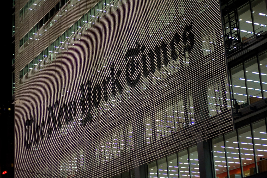 The New York Times decided to use Medium when Amazon attacked their article. (Photo courtesy of Jason Kuffer)