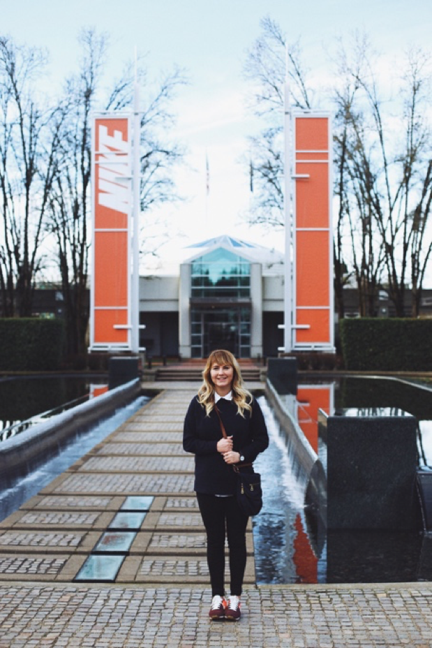Abigail Keenan on her trip to the Nike Headquarters. (Picture from Abigail Keenan)