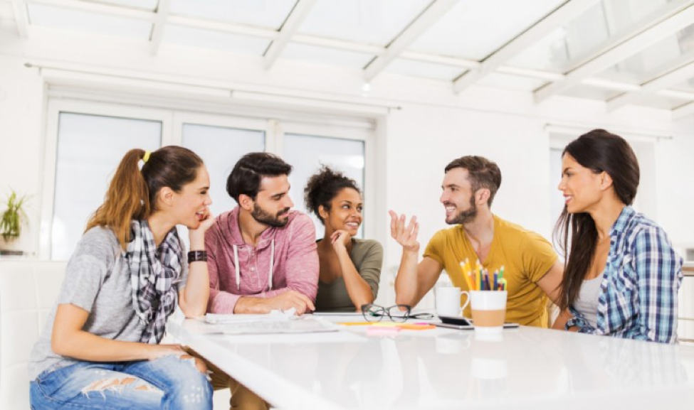Having friends at work can turn into professional connections. (simplyhired.com)