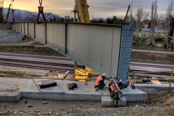 This picture from the Utah Department of Transportation's blog is an example of some of the construction projects Gibson publicizes. (blog.udot.utah.gov)