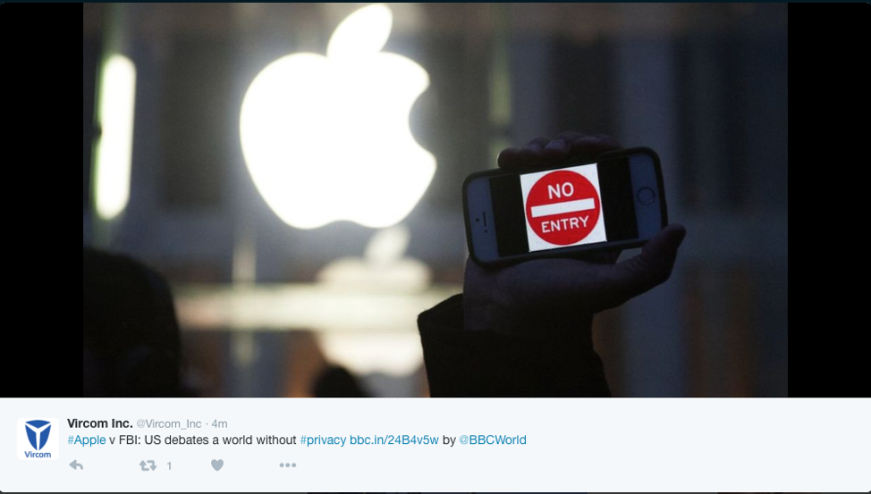 Apple was put in a difficult situation in the case against the FBI.