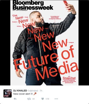 (DJ Khaled changing the future of media with Snapchat, Twitter: @djkhaled)