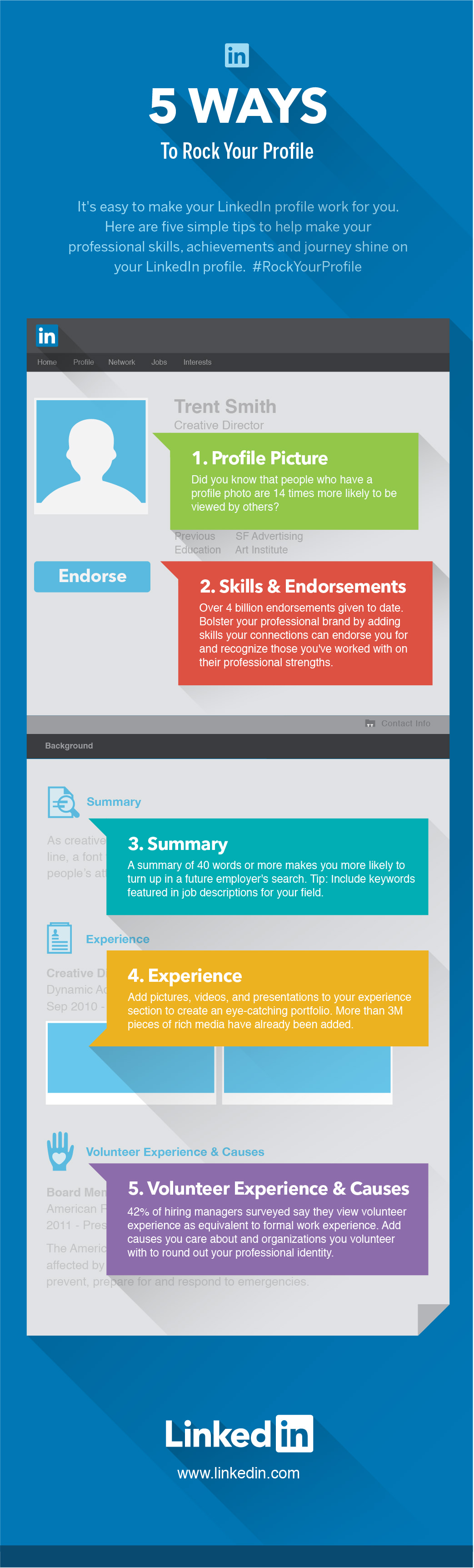 More tips about LinkedIn Profiles (Source: linkedin.com)