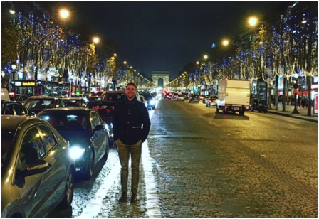 Benjamin Wilson claims to have used Uber over 10 times while on a business trip to Paris in September 2016. (Photo Credit: Benjamin Wilson)