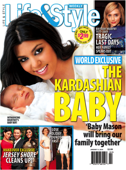 Kourtney Kardashian's first pregnancy makes headlines in every major magazine, increasing the public's interest in the family and their now semi-relatable lives. (Photo Credit: New York Daily News)