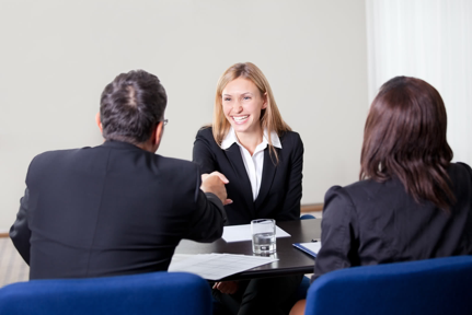 Confidence is key when presenting yourself at an interview. (Image from Google Images)