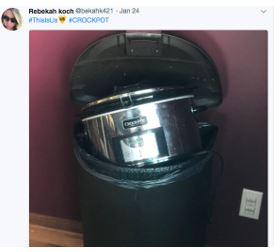 After This Is Us aired, Twitter users threw their slow cookers away. Screenshot from Twitter.com.